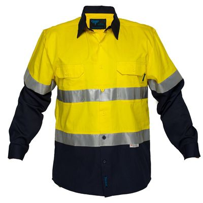 Image for PRIME MOVER MA801 COTTON DRILL SHIRT LONG SLEEVE LIGHTWEIGHT WITH TAPE 2 TONE from BusinessWorld Computer & Stationery Warehouse