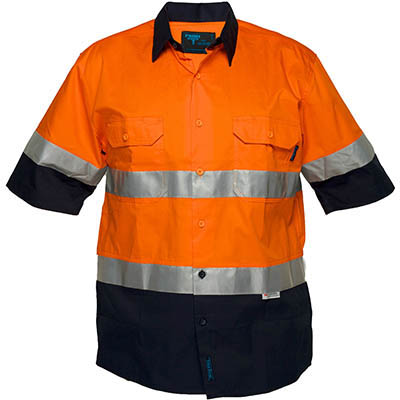 Image for PRIME MOVER MA802 COTTON DRILL SHIRT SHORT SLEEVE LIGHTWEIGHT WITH TAPE 2 TONE from BusinessWorld Computer & Stationery Warehouse
