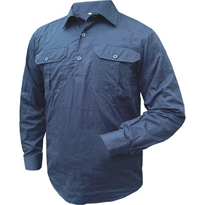 Image for PRIME MOVER MC903 COTTON SHIRT LONG SLEEVE LIGHTWEIGHT CLOSED FRONT from BusinessWorld Computer & Stationery Warehouse