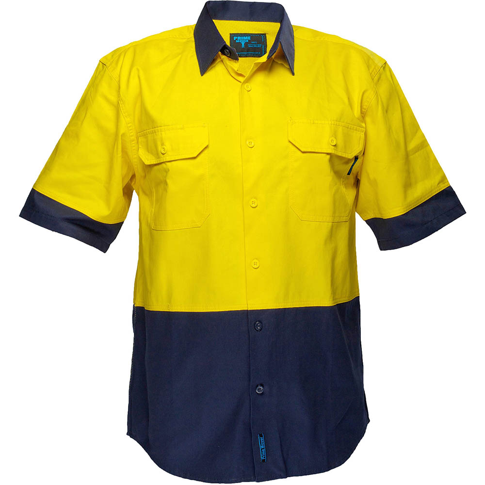 Image for PRIME MOVER MS902 COTTON DRILL SHIRT 2 TONE COLLAR from BusinessWorld Computer & Stationery Warehouse
