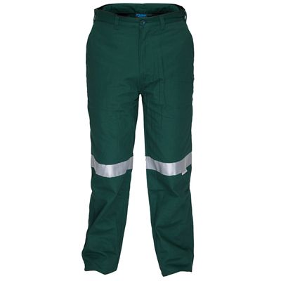 Image for PRIME MOVER MW705 COTTON DRILL STRAIGHT LEG PANT INTERNAL POCKETS WITH REFLECTIVE TAPE from Devon Office Products