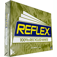 REFLEX A3 100% RECYCLED COPY PAPER 80GSM WHITE PACK 500 SHEETS