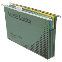 CRYSTALFILE SUSPENSION FILES EXPANDING COMPLETE FOOLSCAP BOX 10