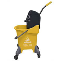 CLEANLINK MOP BUCKET DOWNWARD PRESS 31 LTR YELLOW
