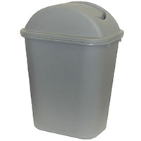 CLEANLINK RUBBISH BIN WITH LID 24L GREY