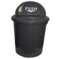 CLEANLINK CIRCULAR RUBBISH BIN WITH BULLET LID 60L