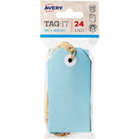 AVERY 13202 TAG-IT WITH STRING SIZE 3 PASTEL BLUE PACK 24
