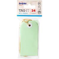 AVERY 13203 TAG-IT WITH STRING SIZE 3 PASTEL GREEN PACK 24