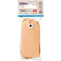 AVERY 13204 TAG-IT WITH STRING SIZE 3 PASTEL PEACH PACK 24