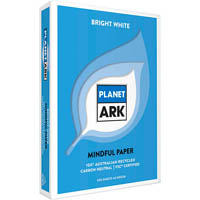 PLANET ARK A4 100% RECYCLED COPY PAPER FSC CERTIFIED 80GSM WHITE PACK 500 SHEETS