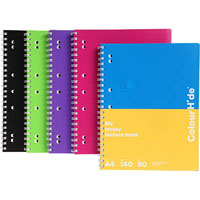COLOURHIDE MY TRUSTY LECTURE NOTEBOOK 120 PAGE A4 ASSORTED