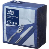 TORK ADVANCED LUNCHEON NAPKIN 2 PLY 310 X 310MM DARK BLUE PACK 100