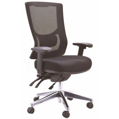 Image for BURO METRO II MESH CHAIR EXTRA HIGH BACK WITH ARMS BLACK from Office Express