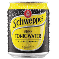 SCHWEPPES TONIC WATER CAN 200ML CARTON 24