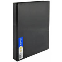 BANTEX INSERT RING BINDER 2D 19MM A4 BLACK