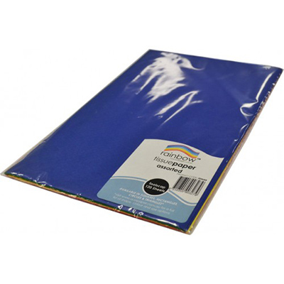 Rainbow Tissue Paper Acid Free 17 Gsm Foolscap 120 Sheets Assorted
