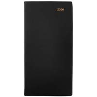 COLLINS 2020 BELMONT SLIMLINE DIARY PORTRAIT WEEK TO VIEW B6/7 BLACK