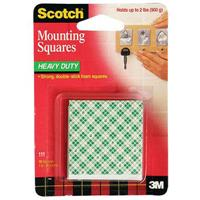 SCOTCH 111 HEAVY DUTY MOUNTING SQUARES PACK 16