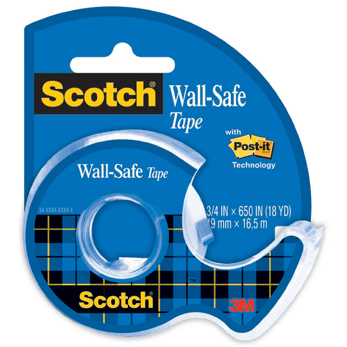 SCOTCH 183 WALL SAFE TAPE AND DISPENSER 19MM X 16.5M