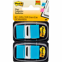 POST-IT 680-BB2 FLAGS BRIGHT BLUE TWIN PACK 100