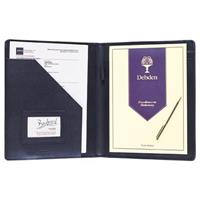 DEBDEN CONFERENCE COMPENDIUM A4 LEATHER BLACK