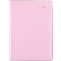 SOHO 2019 DIARY DAY TO PAGE 1/2HR APPOINTMENTS A5 PINK