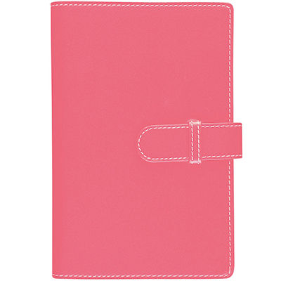 Image for DEBDEN ACCENT PU COMPENDIUM WITH A4 NOTEPAD PINK from Office Express