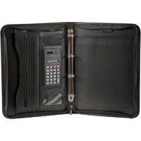 SPIRAX ZIPPERED 4 RING BINDER COMPENDIUM A4