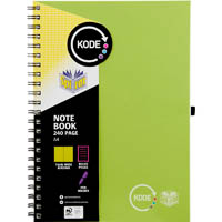 SPIRAX P959 KODE NOTEBOOK SPIRAL BOUND 240 RULED PAGE A4 GREEN