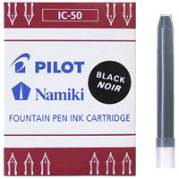 PILOT CAPLESS FOUNTAIN PEN REFILL CARTRIDGE BLACK PACK 6