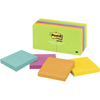 POST-IT 654-14AU NOTES ULTRA VALUE PACK 12 WITH 2 BONUS PADS 76 X 76MM ASSORTED