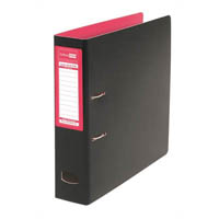 COLOURHIDE MIGHTY LEVER ARCH FILE A4 PINK/BLACK