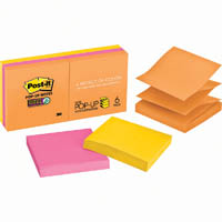 POST-IT R330-6SSUC SUPER STICKY POP UP NOTES RIO DE JANEIRO PACK 6