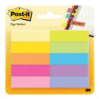 POST-IT 670-10AB PAPER PAGE MARKERS 13 X 44MM ASSORTED PACK 10