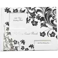 CUMBERLAND WEDDING GUEST BOOK FASHION DESIGN CONCEALED WIRO HARD COVER RULED 65 LEAF 160 X 210MM