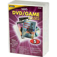 FELLOWES DVD REPLACEMENT CASE FROST PACK 5