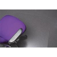 MARBIG TUFFMAT CHAIRMAT POLYCARBONATE KEYHOLE 900 X 1200MM CLEAR