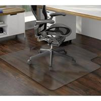 MARBIG TUFFMAT CHAIRMAT POLYCARBONATE HARD FLOOR KEYHOLE 900 X 1200MM CLEAR