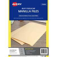 AVERY 88050 MANILLA FOLDER FOOLSCAP BUFF PACK 50
