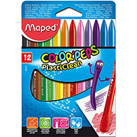 MAPED COLOR PEPS PLASTICLEAN CRAYONS PACK 12