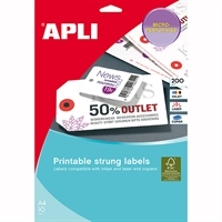 APLI STRUNG TICKETS PRINTABLE DOUBLE SIDED 36 X 53MM PACK 10