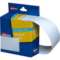 AVERY 937306 LABEL DISPENSER RECTANGLE 76 X 29MM WHITE PACK 180