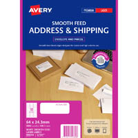 AVERY 959360 L7157 ADDRESS LABEL SMOOTH FEED 33 WHITE PACK 100