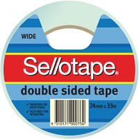 SELLOTAPE DOUBLE SIDED TAPE WIDE 24MM X 33M
