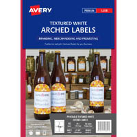 AVERY 980023 L7128 ARCHED PRODUCT LABEL TEXTURED WHITE PACK 10