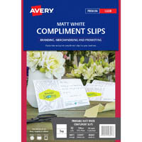 AVERY 980027 C32295 COMPLIMENT SLIP LASER 210 X 99MM WHITE PACK 10