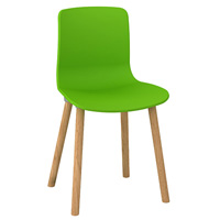 DAL ACTI WOODEN 4-LEG CHAIR WITH GREEN SHELL