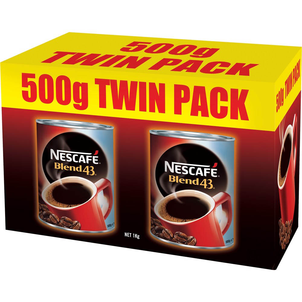 Image for NESCAFE COFFEE BLEND 43 500G TWIN PACK from Second Office