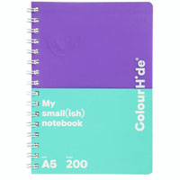 COLOURHIDE MY SMALL NOTEBOOK 200 PAGE A5 PURPLE