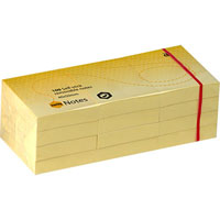 MARBIG REPOSITIONAL NOTES 100 SHEET 40 X 50MM YELLOW PACK 12
